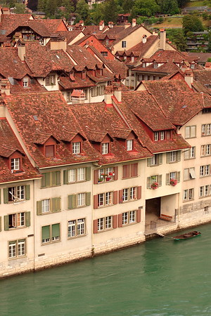 Houses along the Aare