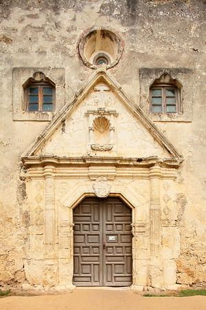 Main entrance to Mission Concepcion, San Antonio, TX. © 2013 Kenneth R. Sheide
