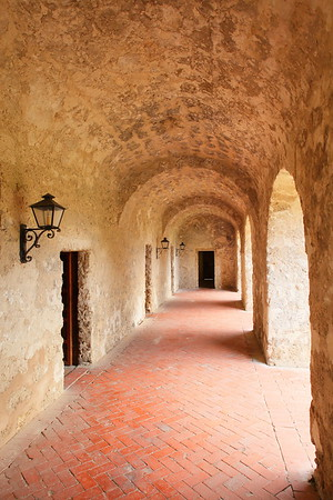 Walkway at Mission Concepcion, San Antonio, TX. © 2013 Kenneth R. Sheide