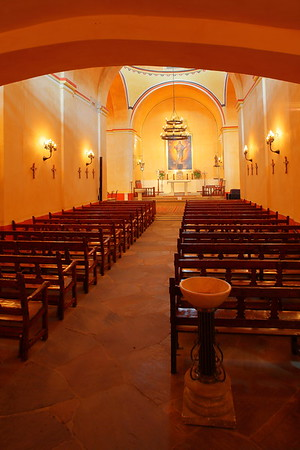 Main church service area, Mission Concepcion, San Antonio, TX. © 2013 Kenneth R. Sheide