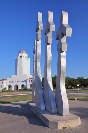 Artwork and tower, Randolph AFB, TX. © 2013 Kenneth R. Sheide