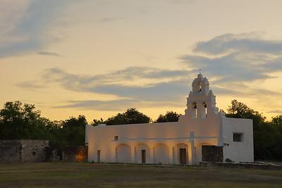 Mission San Juan at dusk, San Antonio, TX. © 2013 Kenneth R. Sheide