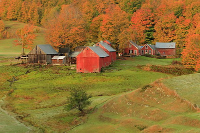 The famous Jenne Farm in autumn splendor near Reading, VT. © 2007 Kenneth R. Sheide