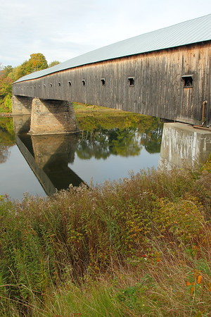 The Cornish-Windsor covered bridge, built in 1886, and connecting Vermont to New Hampshire over the Connecticut River. © 2007 Kenneth R. Sheide
