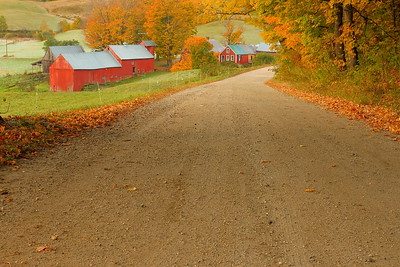 A gravel road leading to the oft-photographed Jenne Farm near Reading, VT. © 2007 Kenneth R. Sheide