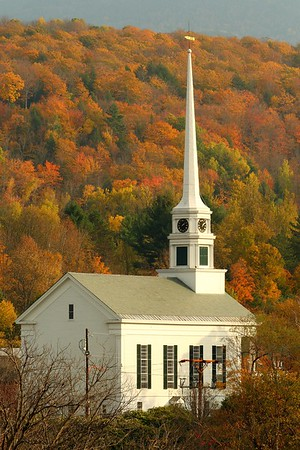 The Stowe Community Church, built in 1863, in Stowe, VT. © 2007 Kenneth R. Sheide