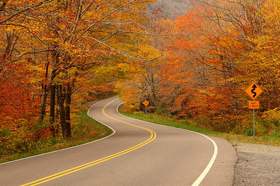 Twisting highway through Smuggler's Notch, VT. © 2007 Kenneth R. Sheide