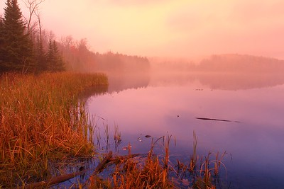 Misty morning at Kent Pond near Killington, VT. © 2007 Kenneth R. Sheide