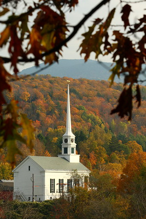 The community church, built in 1863, in Stowe, VT. © 2007 Kenneth R. Sheide