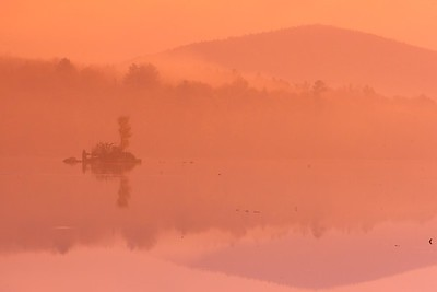 Serene misty morning at Kent Pond, Killington, VT. © 2007 Kenneth R. Sheide