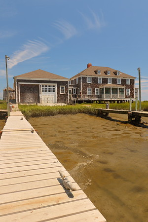 Cedar Island Life Saving Station, also known as Metomkin (or Metompkin) Inlet Station. Built in 1936 and turned over to Virginia in 1964. Now privately owned.  © 2020 Kenneth R. Sheide