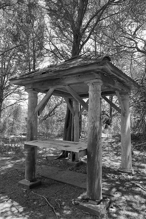 Gazeebo at the Cushman property on Mockhorn Island, VA.  © 2020 Kenneth R. Sheide