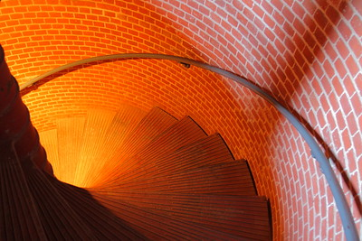 Stairs inside Assateague Lighthouse, VA © 2008 Kenneth R. Sheide