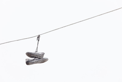 Shoes on wire, Newport News, VA. © 2013 Kenneth R. Sheide