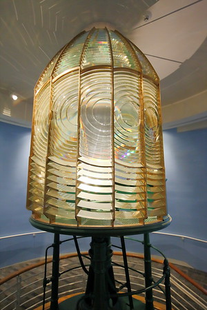 Cape Charles Lighthouse fresnel lens on display in the Mariner's Museum, Newport News, VA. © 2019 Kenneth R. Sheide