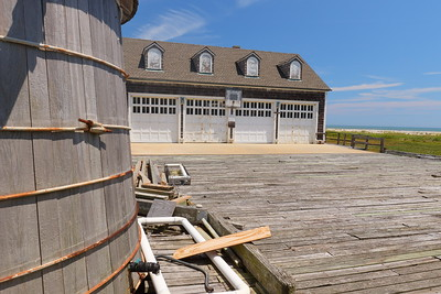 One of three cisterns and the garage of Cedar Island Life Saving Station, also known as Metomkin (or Metompkin) Inlet Station, Virginia. © 2020 Kenneth R. Sheide