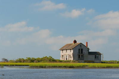 Fowling Point Hunt Club, with no online records of this building that I could find. It was abandoned on the tidal marshes where it sits and is slowly being reclaimed by nature. Eastern Shore, VA.  © 2020 Kenneth R. Sheide