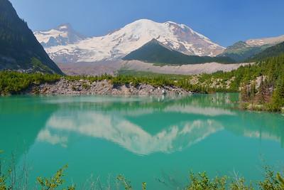 Mount Rainier reflected in Emmons Lake. Mount Rainier NP, WA. © 2017 Kenneth R. Sheide