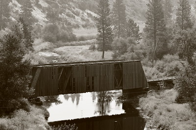 Manning-Rye Covered Bridge built 1918 near Colfax, WA.  Sadly, as I'm typing this in November 2020, I found an article stating this bridge burned down just two months ago leaving only one covered bridge in all of Washington State. © 2017 Kenneth R. Sheide