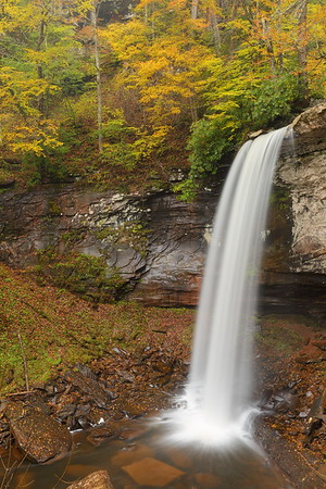 Lower cascade, Falls of Hills Creek, WV. © 2018 Kenneth R. Sheide