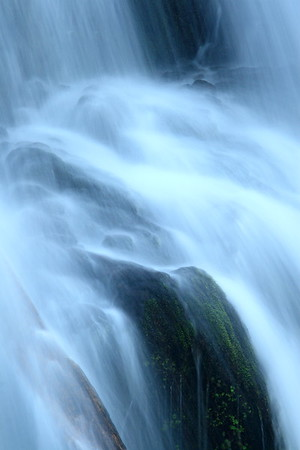 Cascade Falls detail. Lake Quinault, Olympic National Park, Washington. © 2007 Kenneth R. Sheide