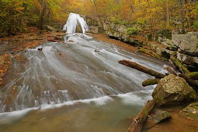 Upper falls, Roaring Run, VA. © 2018 Kenneth R. Sheide