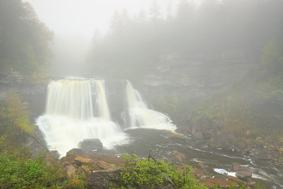Foggy Blackwater Falls in Blackwater Falls State Park, WV. © 2018 Kenneth R. Sheide