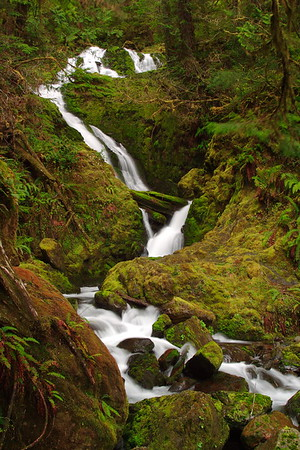Bunch Falls in Olympic National Park, WA. © 2006 Kenneth R. Sheide