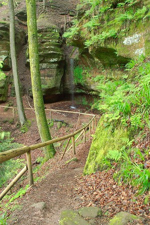 Path through waterfalls of Hexenklamm near Obersimten, Germany. © 2005 Kenneth R. Sheide