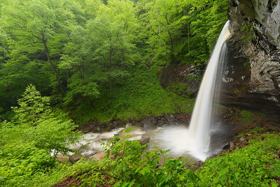Lowest and tallest of three waterfalls at Falls of Hills Creek, WV. © 2017 Kenneth R. Sheide