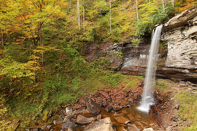 Lower falls at Hills Creek, WV. © 2013 Kenneth R. Sheide