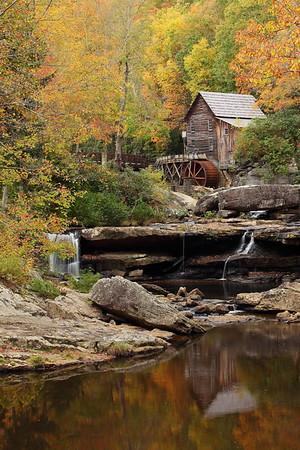 Glade Creek Grist Mill, Babcock State Park, WV. © 2013 Kenneth R. Sheide