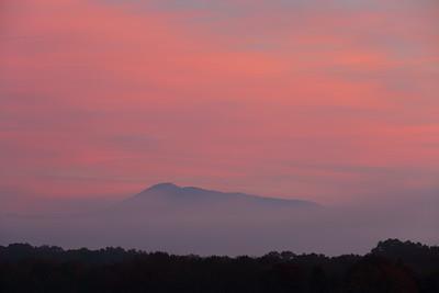 Dawn over hills in West Virginia. © 2018 Kenneth R. Sheide
