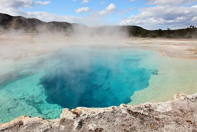 Sapphire Pool, Yellowstone National Park, WY. © 2013 Kenneth R. Sheide
