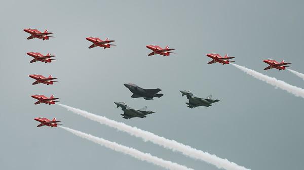 BAe, British Aerospace, ED, Eurofighter, F-35, F-35B, FL, Hawk T1, Lightning II, Lockheed Martin, RAF, RIAT2016, Red Arrows, Red Arrows + Guest Red11, Royal Air Force, Typhoon FGR.4, ZK306, ZK310, ZM1 (19.0Mp)