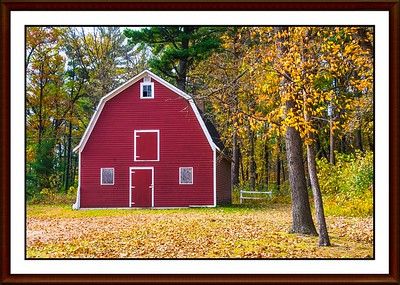 Red Barn at Pine Grove Park - Little Falls MN