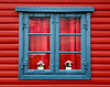 Blue Window on Red Wall - Sweden