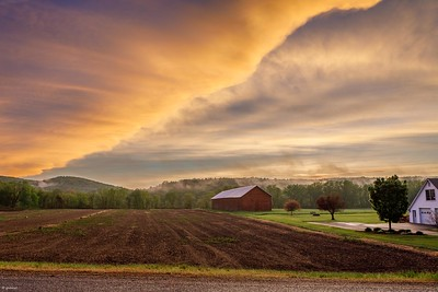 """The Big E Creative Arts Photography, """"Spring Field at Dusk"""""""