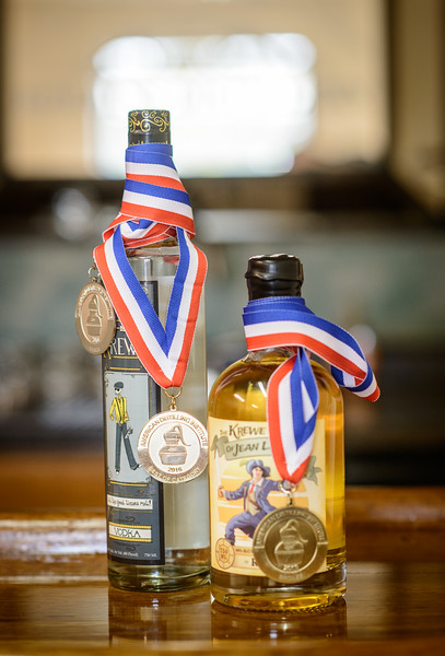 Award Winning Rum and Vodka in the Tasting Room at Rollins Distillery