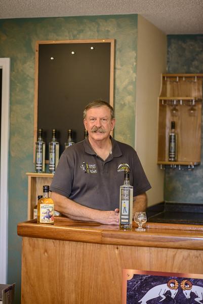 Paul in the Tasting Room at Rollins Distillery