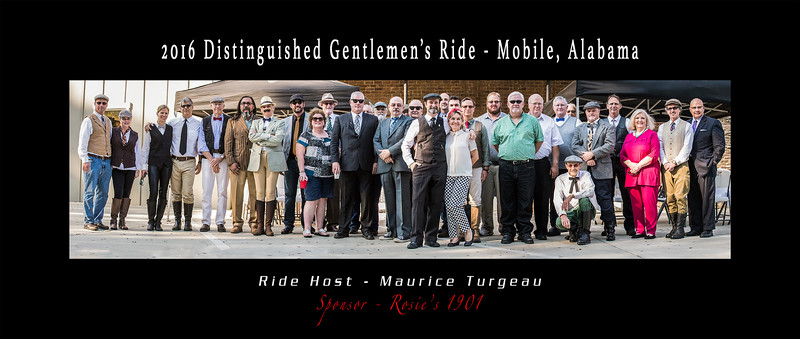 Distinguished Gentlemen's Ride 2016 at Rosie's 1901 in Mobile, AL.