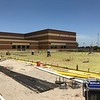 Foundation work for new music wing at McNeil High School. (July 12, 2018)