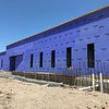 Exterior walls of new special education wing at McNeil High School. Brickwork to begin next. (July 12, 2018)