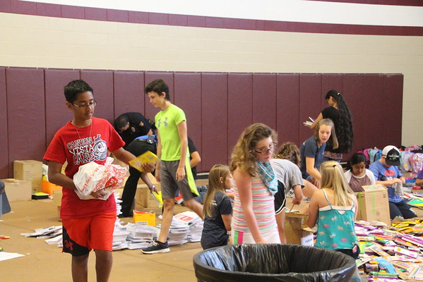 School Supplies Sunday Backpack packing