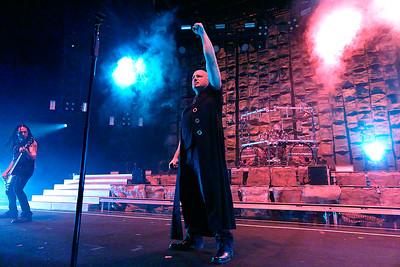Disturbed  live at DTE on 7-26-2016. Photo credit: Ken Settle