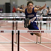 The Division 2 forty first annual Gerry Frew District E Indoor Invitational Track Meet was held at Fitchburg High School on  Saturday, February 9, 2019. Lunenburg Middle High School's Brady Iovanni competes in the 55 meter hurdles during the meet. SENTINEL & ENTERPRISE/JOHN LOVE