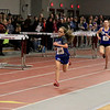 The Division 2 forty first annual Gerry Frew District E Indoor Invitational Track Meet was held at Fitchburg High School on  Saturday, February 9, 2019. Finishing up strong in the girls two mile is Lunenburg Middle School seventh grader Lauren Long. SENTINEL & ENTERPRISE/JOHN LOVE