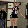 The Division 2 forty first annual Gerry Frew District E Indoor Invitational Track Meet was held at Fitchburg High School on  Saturday, February 9, 2019. Montachusett Regional Vocational Technical School's Katherine Tremblay competes in the shot put during the meet. SENTINEL & ENTERPRISE/JOHN LOVE