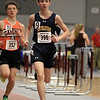 The Division 2 forty first annual Gerry Frew District E Indoor Invitational Track Meet was held at Fitchburg High School on  Saturday, February 9, 2019. Littleton High School's Micheal Morana competes in the two mile during the meet. Just behind him is Gardner High Schools Jack McDermott. SENTINEL & ENTERPRISE/JOHN LOVE