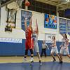 Tyngsboro's Annie McGee and Bromfield's Hanna LoChiatto battle for a rebound. Nashoba Valley Voice/Ed Niser